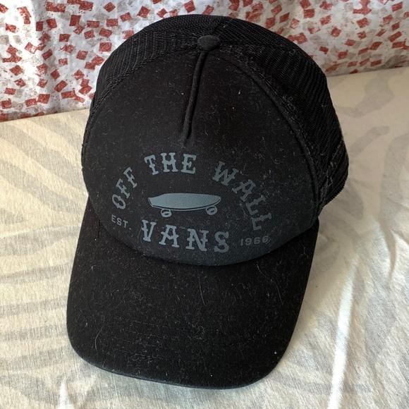 0f3e3708 Vans Off The Wall Black Mesh Trucker Snapback Hat.  M_5c59f7f09fe486969855413a
